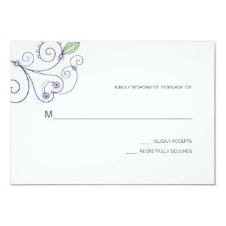 BOHO Chic-Garten, der lila UAWG Wedding ist 8,9 X 12,7 Cm Einladungskarte