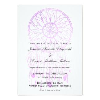 Boho Dreamcatcher Lavendel-schicke Stammes- 12,7 X 17,8 Cm Einladungskarte