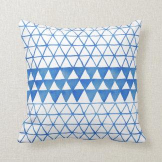 Boho eklektisches blaues Indigo-Kissen Kissen