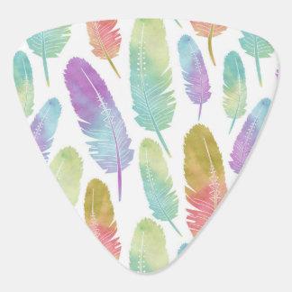 Boho Feder-Muster-Regenbogen-Aquarell Plektrum