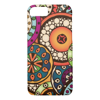 Boho Funky Trendy Retro abstraktes Muster iPhone 8/7 Hülle