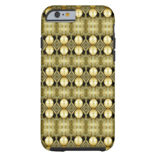 Boho gelbes GoldSinti und Tough iPhone 6 Hülle