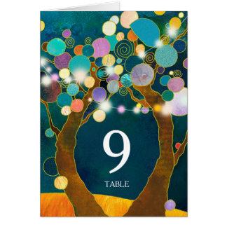 Boho Liebe-Baum-aquamarine Wedding Tischnummer Karte
