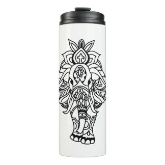 Boho Mandela Elefant Thermosbecher