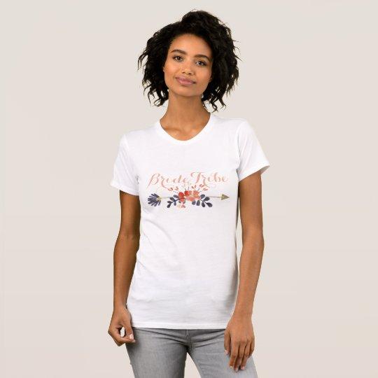 Boho Pfeil-Braut-Stamm-Shirt T-Shirt