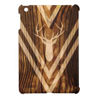 Boho Rotwild auf rustikalem Holz iPad Mini Hülle