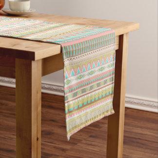 Boho Stammes- schicker geometrischer Kurzer Tischläufer