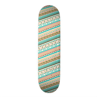 Boho Stammes- schickes geometrisches Skateboarddeck