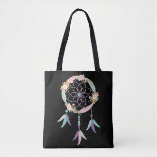 Boho Taschen-Tasche im Schwarzen mit Tasche