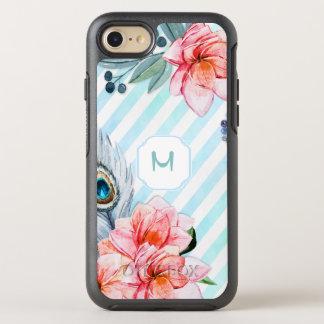 Boho versieht den Blumen Aquarell-Streifen mit OtterBox Symmetry iPhone 8/7 Hülle