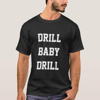 Bohrgerät-Baby-Bohrgerät, schwarzer T - Shirt