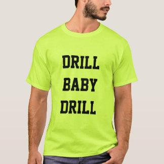 Bohrgerät-Baby-Bohrgerät-Sicherheits-Grün-T - T-Shirt
