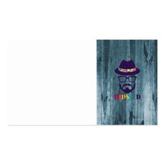 bois frais de bleu de barbe en verre de chapeau de carte de visite standard