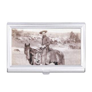Boîtier Pour Cartes De Visite Cheval occidental américain de cowboy vintage