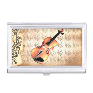 Boîtier Pour Cartes De Visite Moi et mon Violin_