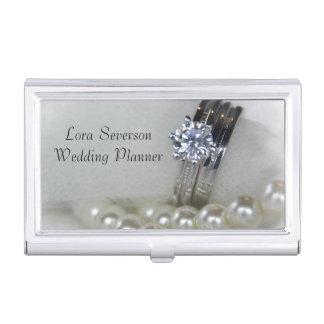 Boîtier Pour Cartes De Visite Wedding planner de bagues à diamant et de perles