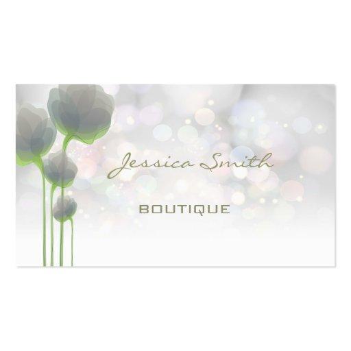 Bokeh de luxe moderne élégant professionnel floral modèle de carte de visite
