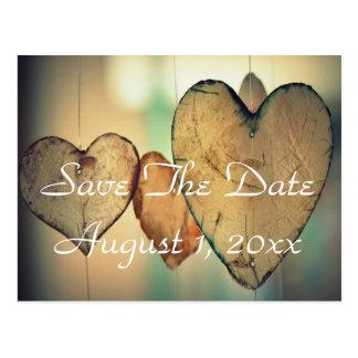 Bokeh Herzen Save the Date Postkarte