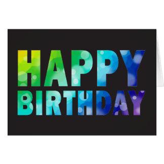 Bokeh Regenbogen-Muster-Geburtstags-Karte Karte