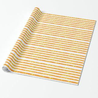 Bokeh Stripes Orange und Weiß Geschenkpapier