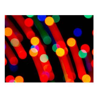 Bokeh Weihnachtslichter mit Licht schleppt Postkarte