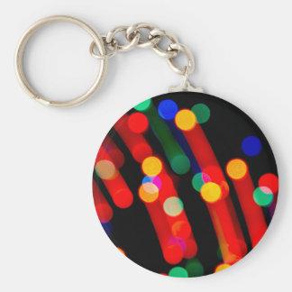 Bokeh Weihnachtslichter mit Licht schleppt Schlüsselanhänger