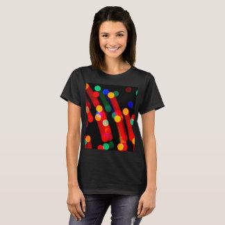 Bokeh Weihnachtslichter mit Licht schleppt T - T-Shirt