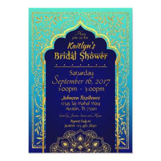 Bollywood arabische NachtBrautparty-Einladung Karte