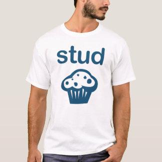 Bolzen-Muffin-(blaues) T-Stück lustig T-Shirt