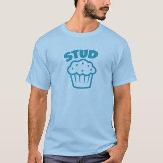 Bolzen-Muffin im Blau T-Shirt
