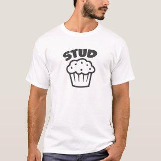 Bolzen-Muffin im Schwarzen T-Shirt