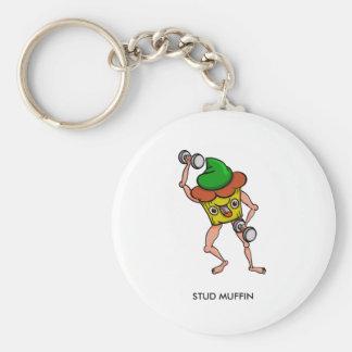 Bolzen-Muffin-leichte riesige lustige Illustration Schlüsselanhänger