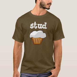 Bolzen-Muffin-, schokoladenbraunes und T-Shirt