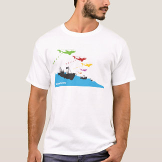 Bombardierung gefärbt T-Shirt