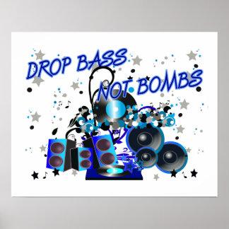 Bombes de basse de baisse pas poster
