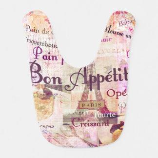 Bon Appétit französische Nahrung fasst Lätzchen
