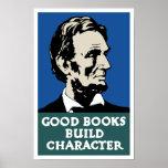 Bon caractère de construction de livres -- WPA Affiche