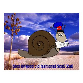 Bon snail mail démodé carte postale