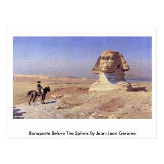 Bonaparte vor der Sphinxe durch Jean-Leon Gerome Postkarte