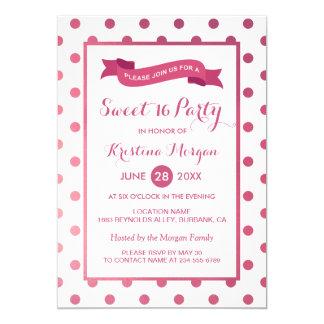 Bonbon 16 Geburtstags-Girly rosa Karte