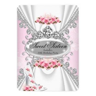 Bonbon 16 Geburtstags-Prinzessin Pink Tiara Rose 12,7 X 17,8 Cm Einladungskarte
