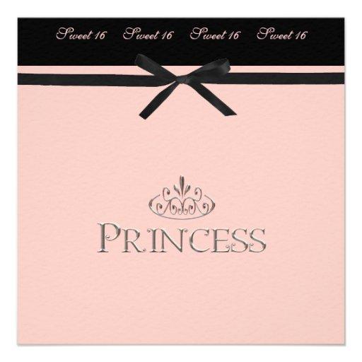 Bonbon 16 Prinzessin-Party Einladung