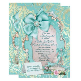 Bonbon 16 Quinceanera Party Einladungen
