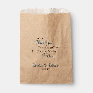 Bonbon danken Ihnen personalisierte königliches Geschenktütchen