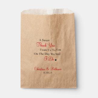 Bonbon danken Ihnen schwarz und roter Hochzeit Geschenktütchen