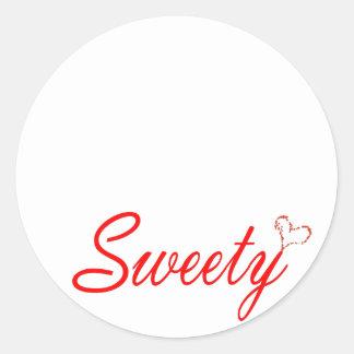bonbon, espiègle, amusement, aimer, s'inquiétant, sticker rond