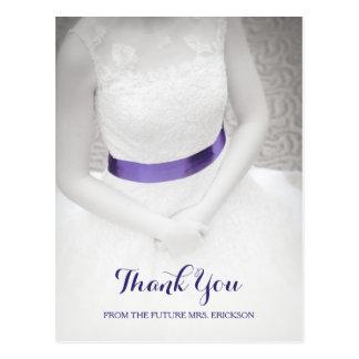 Bonbon etwas blaues Schärpe-Brautparty danken Postkarte