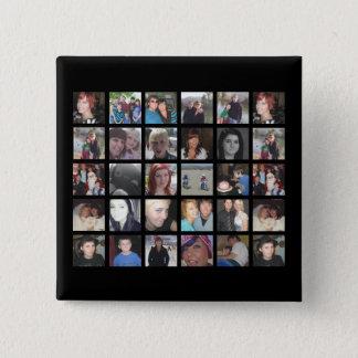 Bonbon Ihr eigenes 30 Bild Instagram Foto Quadratischer Button 5,1 Cm