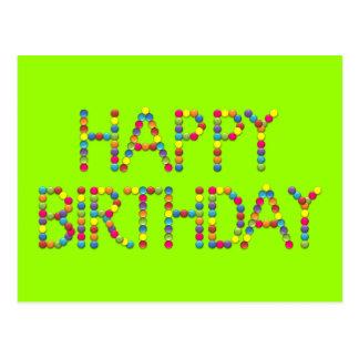 Bonbon-Party-Regenbogen-alles- Gute zum Geburtstag Postkarte