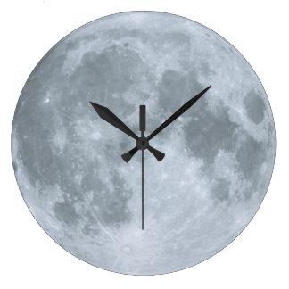 Bonbon schlummert Kinderzimmer-blauer Mond Große Wanduhr